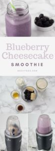 Blueberry Cheesecake Smoothie | nashifood.com