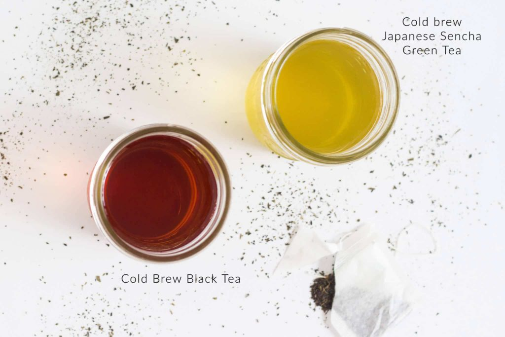 How to cold brew tea - Sencha japanese green tea and black tea | nashifood.com