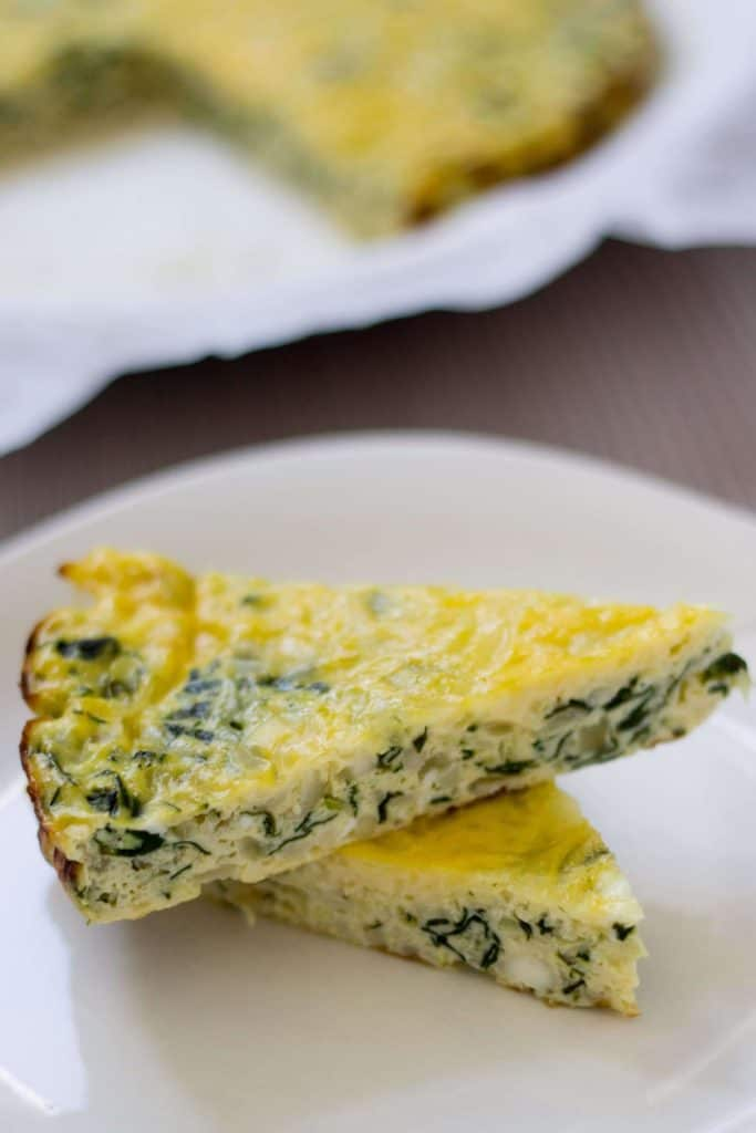 spinach and zucchini crustless quiche