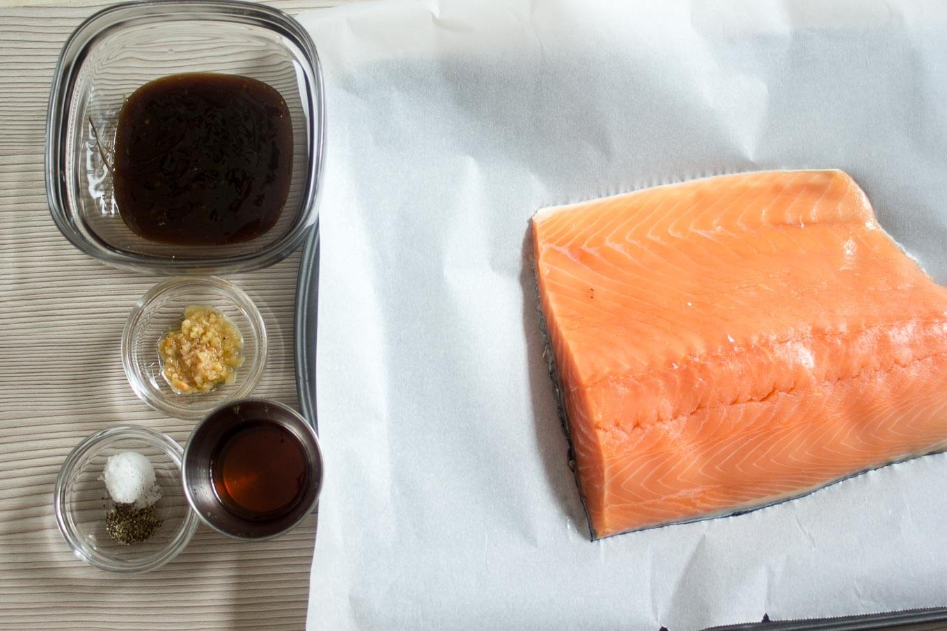 Honey Teriyaki Salmon - Ingredients | nashifood.com