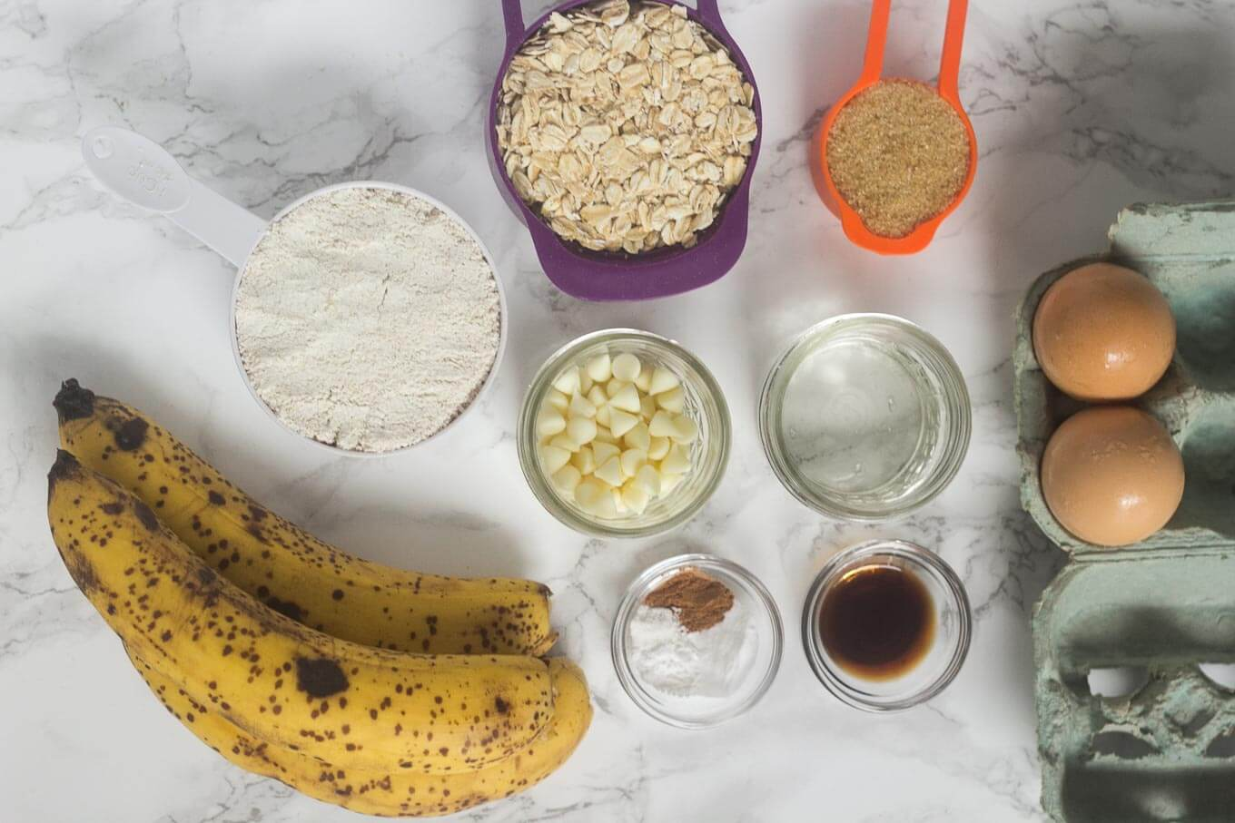 Banana Oat Bread - Ingredients